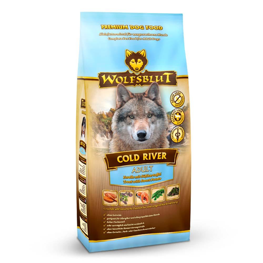 500 g | Wolfsblut | Cold River Adult | Trockenfutter | Hund