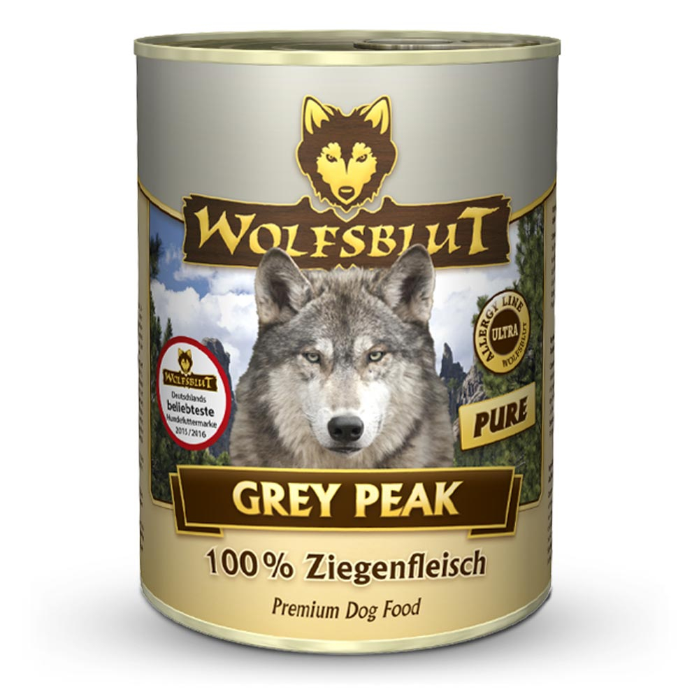 6 x 395 g | Wolfsblut | Grey Peak Pure Adult | Nassfutter | Hund