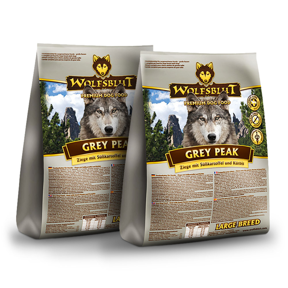 2 x 15 kg | Wolfsblut | Grey Peak Large Breed | Trockenfutter | Hund