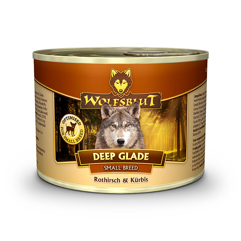 6 x 200 g | Wolfsblut | Deep Glade Small Breed | Nassfutter | Hund