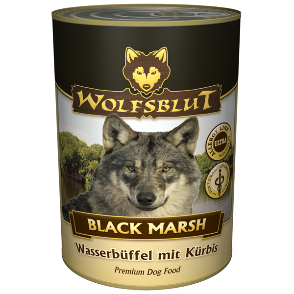 24 x 395 g | Wolfsblut | Black Marsh Adult | Nassfutter | Hund