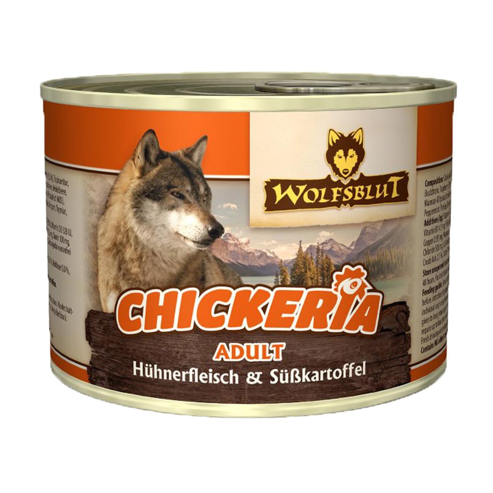 24 x 190 g   Wolfsblut   Chickeria Adult mit Hühnerfleisch & Süßkartoffel Adult   Nassfutter   Hund