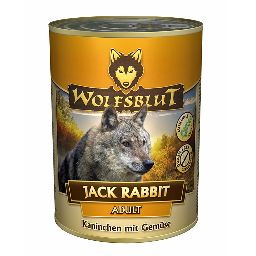 12 x 200 g | Wolfsblut | Jack Rabbit Adult | Nassfutter | Hund