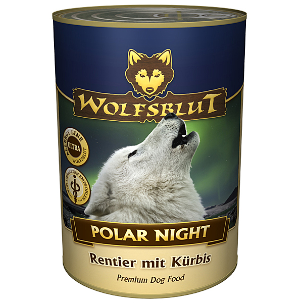 24 x 395 g | Wolfsblut | Polar Night Adult | Nassfutter | Hund