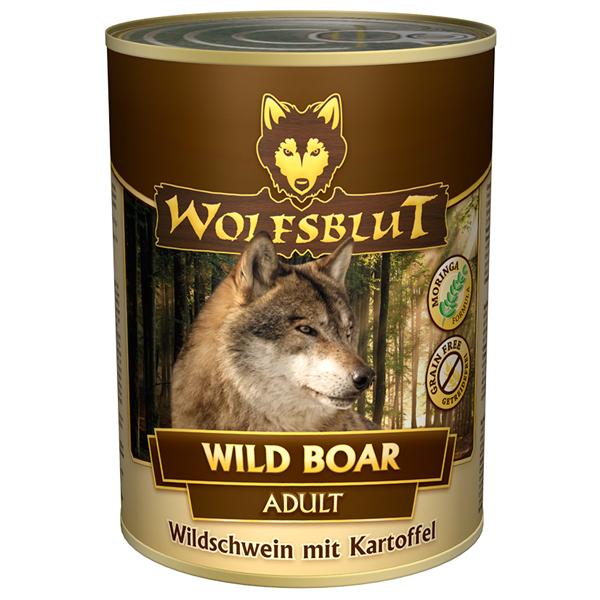 24 x 395 g | Wolfsblut | Wild Boar Adult | Nassfutter | Hund