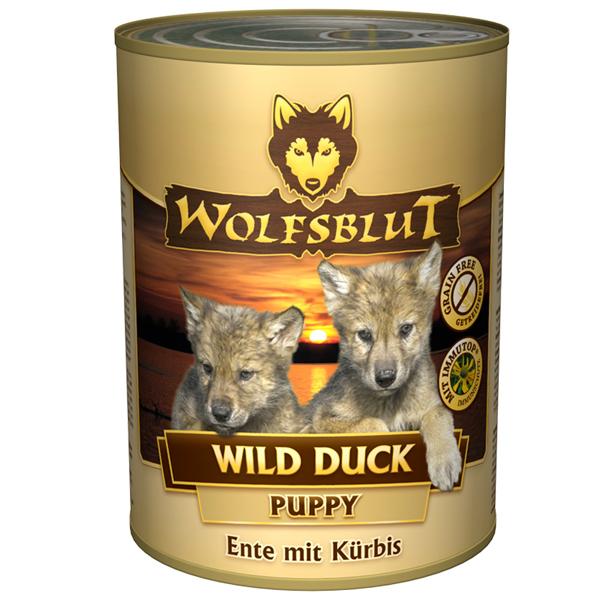 24 x 395 g | Wolfsblut | Wild Duck Puppy | Nassfutter | Hund