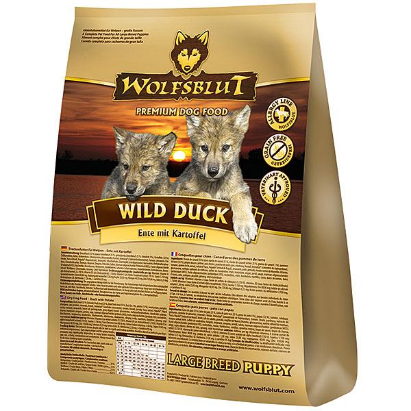 4 x 2 kg | Wolfsblut | Wild Duck Large Breed Puppy | Trockenfutter | Hund