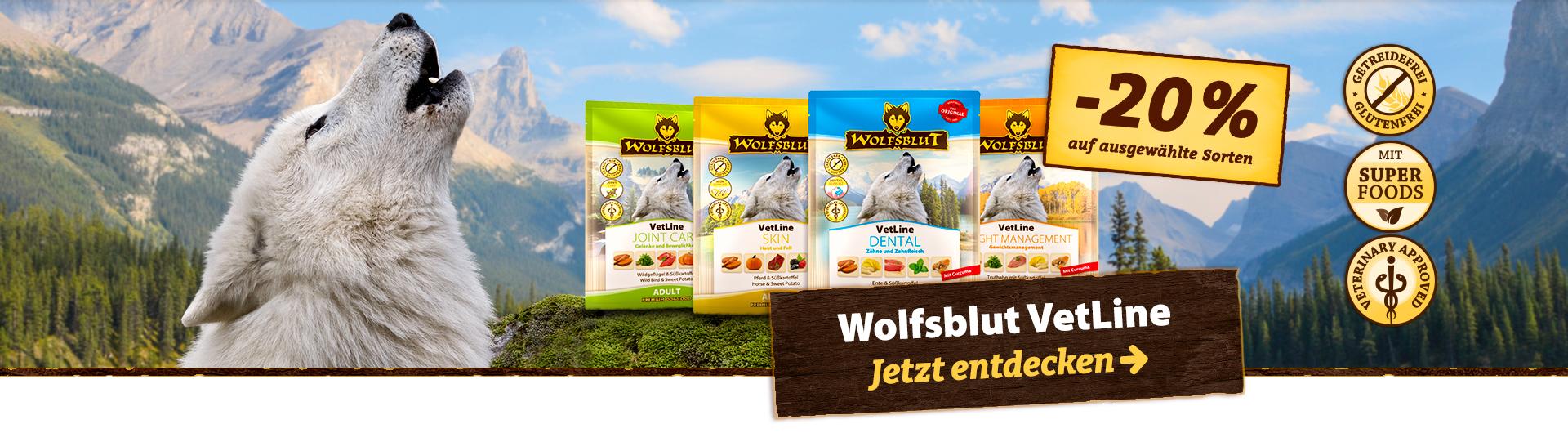 20 % auf Wolfsblut VetLine Nassfutter